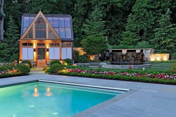mẫu bể bơi đẹp, bể bơi độc đáo, nhà đẹp,