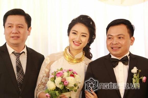 Hoa hậu Thu Ngân và chồng đại gia tổ chức tiệc ở Hà Nội sau đám hỏi ở quê