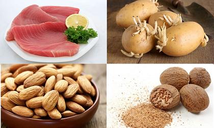 thực phẩm giúp ngủ ngon, thực phẩm trị mất ngủ, chuối, hạnh nhân