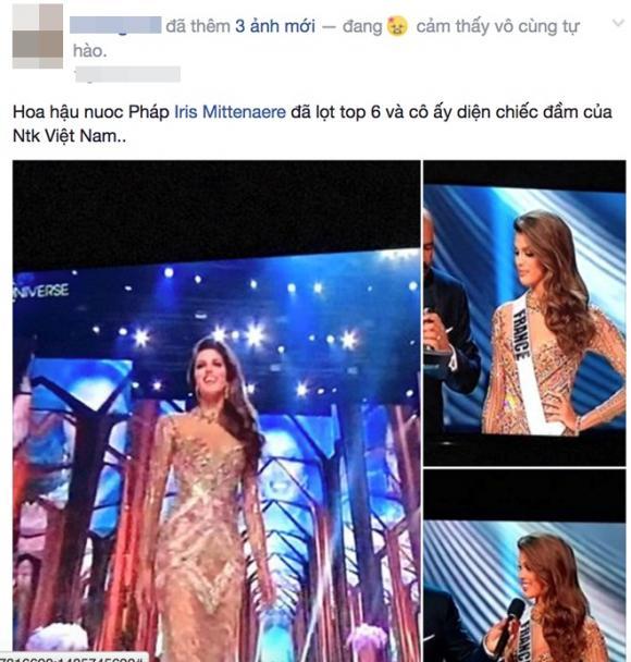 Hoa hậu Hoàn vũ thế giới 2016 đăng quang trong trang phục của NTK Hoàng Hải