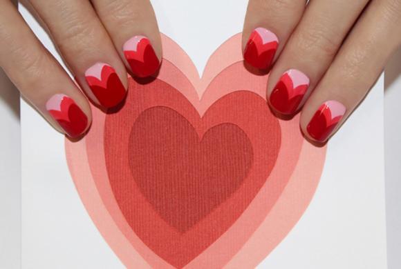 làm đẹp,mẫu nail lãng mạn,Lễ tình nhân