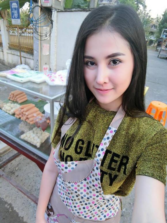 giới trẻ, hot girl, cô gái bán thịt viên chiên, cô gái bán thịt, gái xinh