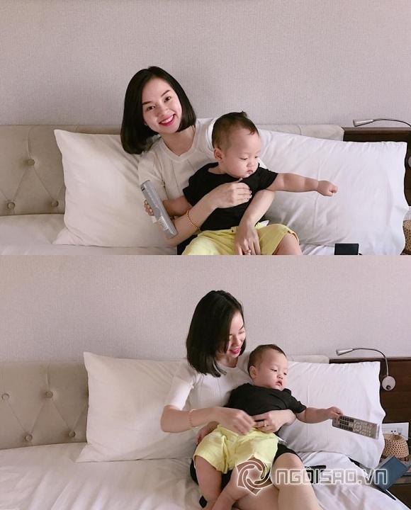 Con trai của Ly Kute đáng yêu khi gần 1 tuổi