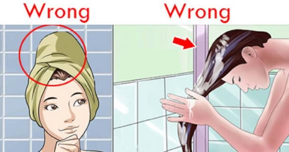 rụng tóc, cách gội đầu chuẩn, sai lầm khi gội đầu, cách gội đầu sai