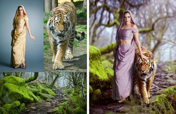 ảnh photoshop, ảnh ghép đẹp, Nghệ sĩ Victoria