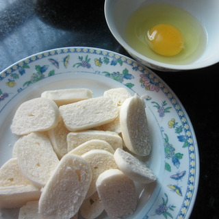bánh mì chiên, bánh mì rán trứng sữa, món bé thích