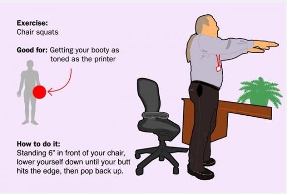 'Dân văn phòng' sẽ không thể bỏ qua những bài tập thể dục ngay tại bàn làm việc sau