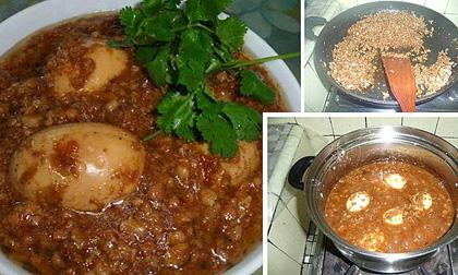 Cách Làm Món, măng kho trứng, trứng cút kho măng, món ăn cơm ngon