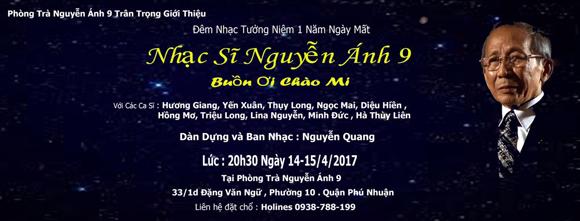 Nguyễn Ánh 9, Nhạc sĩ Nguyễn Ánh 9, Đêm nhạc tưởng nhớ nhạc sĩ Nguyễn Ánh 9
