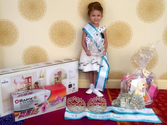 đời sống trẻ,bé gái 5 tuổi,Gabriella Roberts,Hoa hậu nhí,cuộc thi nhan sắc nhí,bé gái 5 tuổi thi Hoa hậu,nhan sắc Hoa hậu nhí