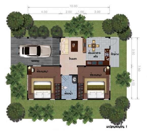 mẫu nhà một tầng, nhà một tầng đẹp, mẫu nhà đẹp, nhà vườn,