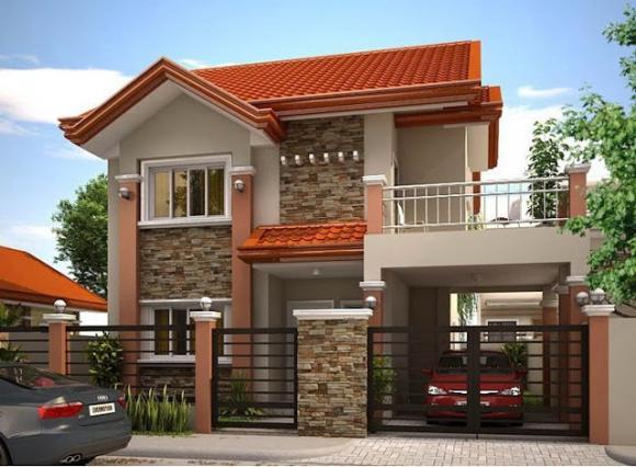 mẫu nhà đẹp, mẫu nhà 2 tầng, nhà hai tầng