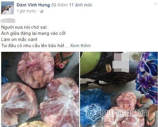 sao việt, đàm vĩnh hưng, đàm vĩnh hưng mua thịt lợn, đàm vĩnh hưng mua thịt lợn bị tạt dầu luyn