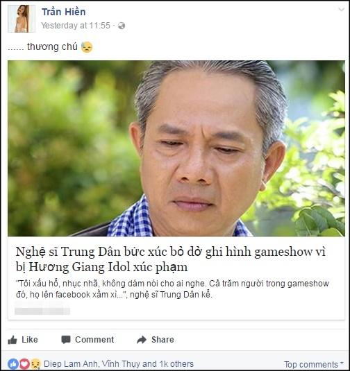 Hương Giang, Hương Giang idol, trung dân, phát ngôn của sao, sao việt, Dương Hoàng yến, ca sĩ chuyển giới, Hoàng Yến The Voice