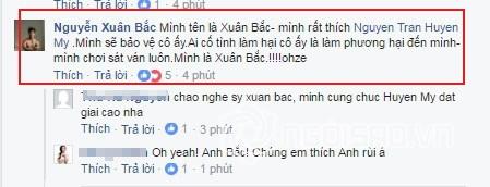 Á hậu Huyền My, scandal Á hậu Huyền My, Xuân Bắc