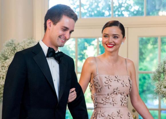 sao Hollywood,Miranda Kerr,Evan Spiegel,đám cưới Miranda Kerr