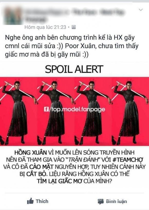 Vietnam's Next Top Model, Vietnam's Next Top Model 2017, tập 4 Vietnam's Next Top Model, Hồng Xuân bị đánh gãy mũi