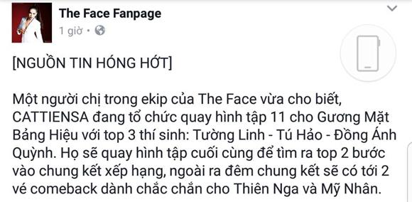 The Face 2017, The Face, Thiên Nga The Face, Mỹ Nhân The Face