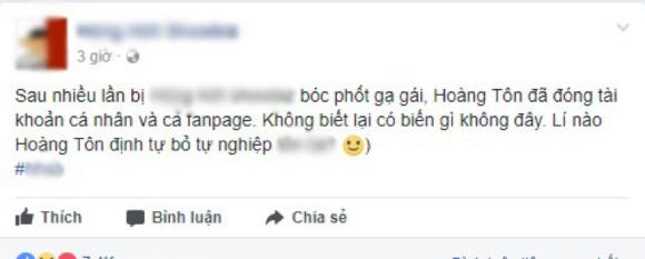chuyện làng sao,sao Việt,Hoàng Tôn,Hoàng Tôn giải nghệ