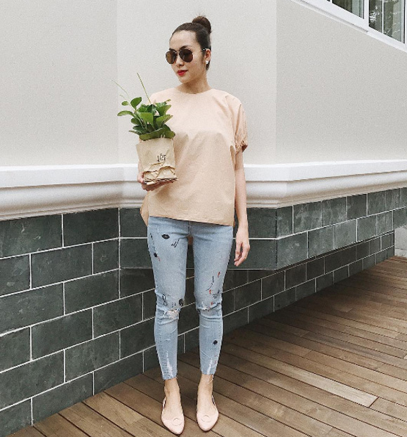 Hà Tăng, gu thời trang của Hà Tăng, sao việt, Tăng Thanh Hằng,thời trang sao