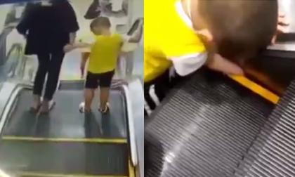 Thang máy nghiến nửa người, clip hot, tai nạn thang máy