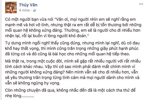 ,thụy vân đi làm mc, á hậu thúy vân, thúy vân chia tay bạn trai đại gia, sao Việt