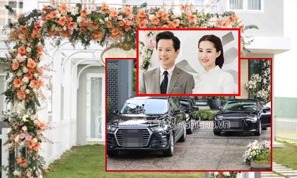 Hoa hậu Thu Thảo, đám cưới Hoa hậu Thu Thảo, dàn siêu xe trong đám cưới Hoa hậu Thu Thảo, clip ngôi sao