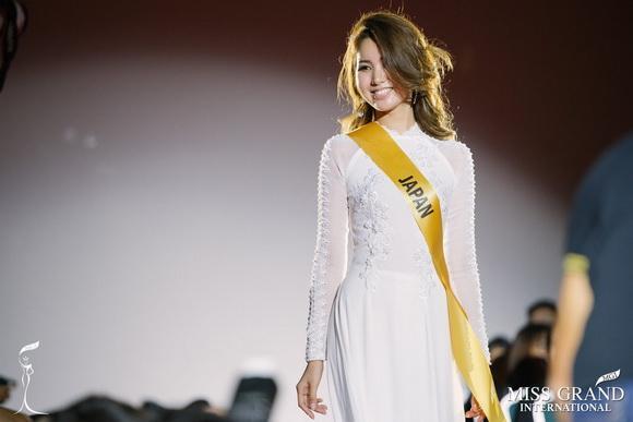 Miss Grand Nhật Bản,Miss Grand Nhật Bản,đại diện nhật bản mặc áo dài việt
