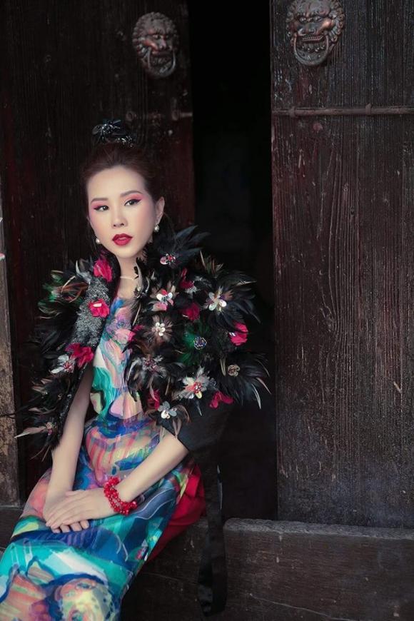 Hoa hậu Thu Hoài, Hoa hậu Thu Hoài áo dài, sao Việt,album ảnh sao,sao Việt