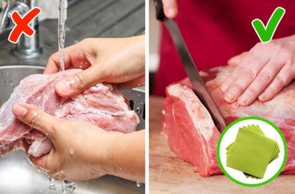 sức khỏe, rửa thịt, có nên rửa thịt trước khi nấu, những thực phẩm không nên rửa trước khi nấu, thực phẩm bẩn,chăm sóc sức khỏe