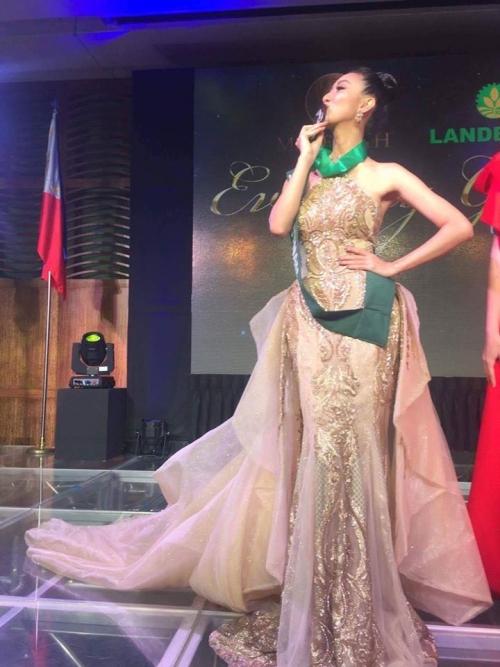 Hoa hậu,Á hậu Hà Thu, miss earth 2017, hà thu thi miss earth 2017, hà thu giành huy chương đồng, hà thu tại miss earth, hoa hậu Việt