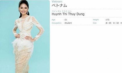 thời trang sao,sao Việt,Thùy Dung,Miss International