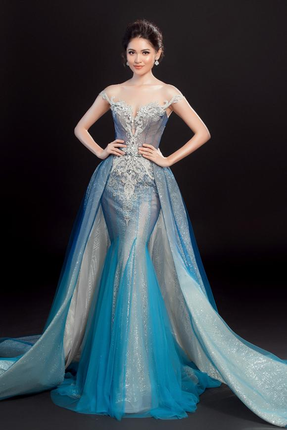 Thuỳ Dung lộng lẫy như công chúa Lọ Lem với váy dạ hội cho đêm Chung kết