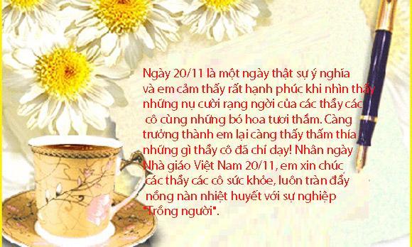 lời chúc 20/11, ngày nhà giáo Việt Nam, những lời chúc 20/10 ý nghĩa tặng thầy cô giáo