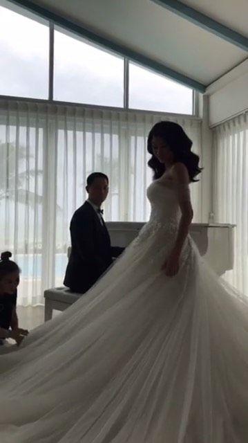 trang trần, ảnh cưới trang trần, trang trần và ông xã