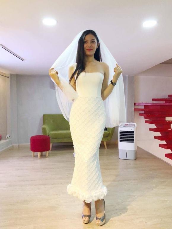 chúng huyền thanh, chúng huyền thanh thử váy cưới, á quân the face 2017