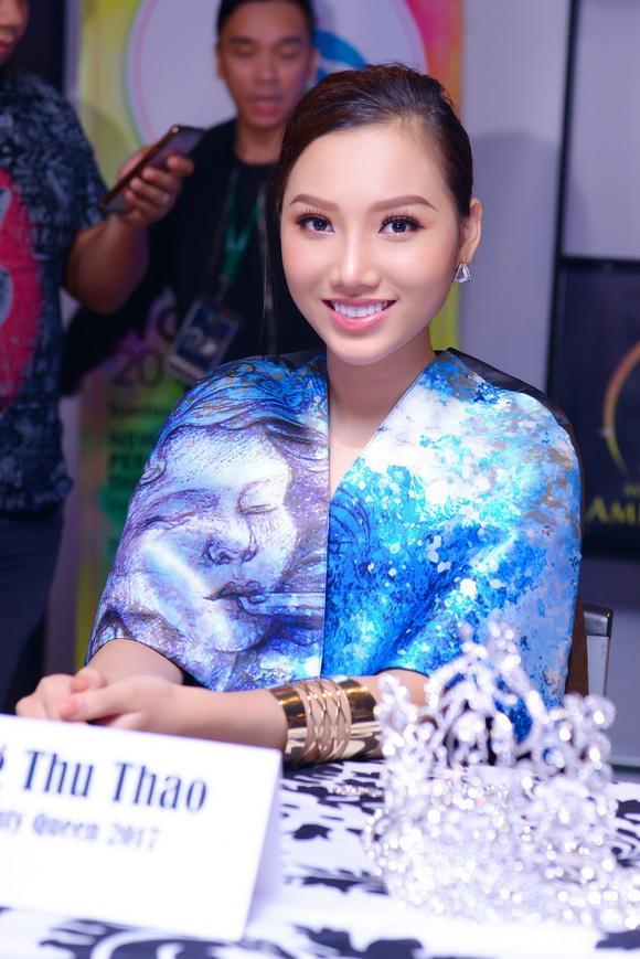 Nữ hoàng Sắc đẹp Toàn cầu 2017,hoa hậu Hoàng Thu Thảo,nữ hoàng sắc đẹp hoàng thu thảo