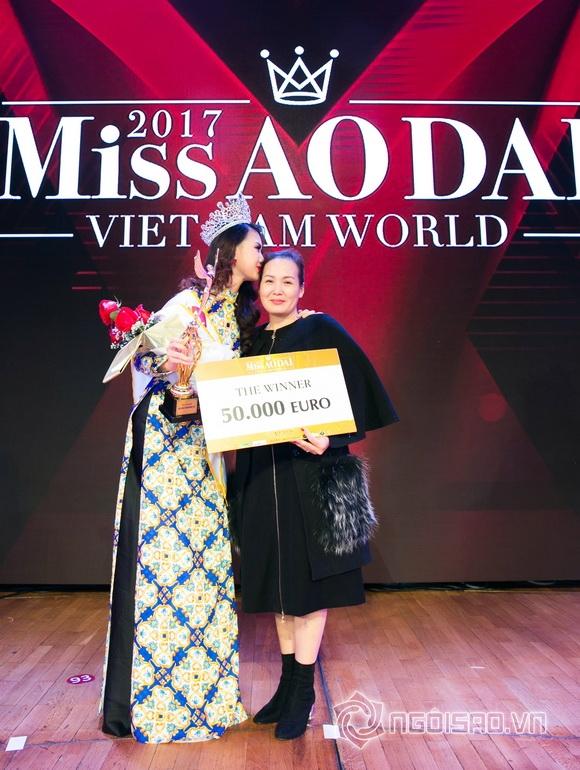 Miss Áo dài Việt Nam World 2017,hoa hậu áo dài,quỳnh hoa đăng quang hoa hậu
