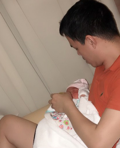 Sang Lê, Sang Lê sinh con, Sang Lê và chồng đại gia