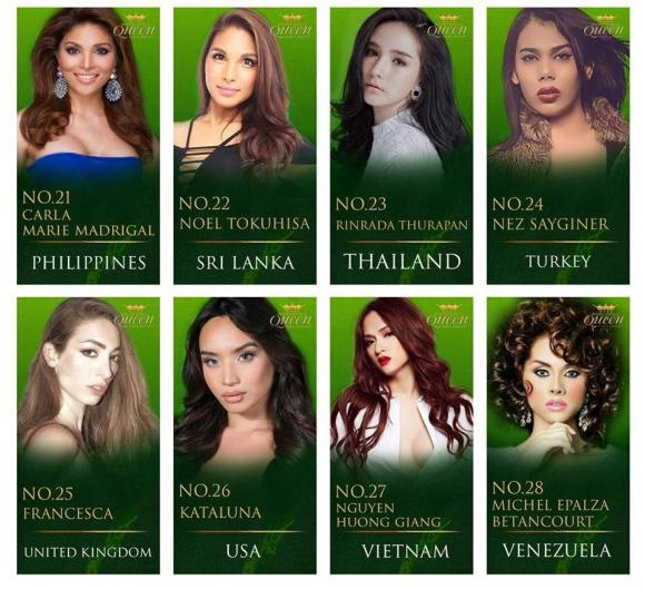 Hương Giang Idol,Hoa hậu chuyển giới,Mis International Queen Pageant