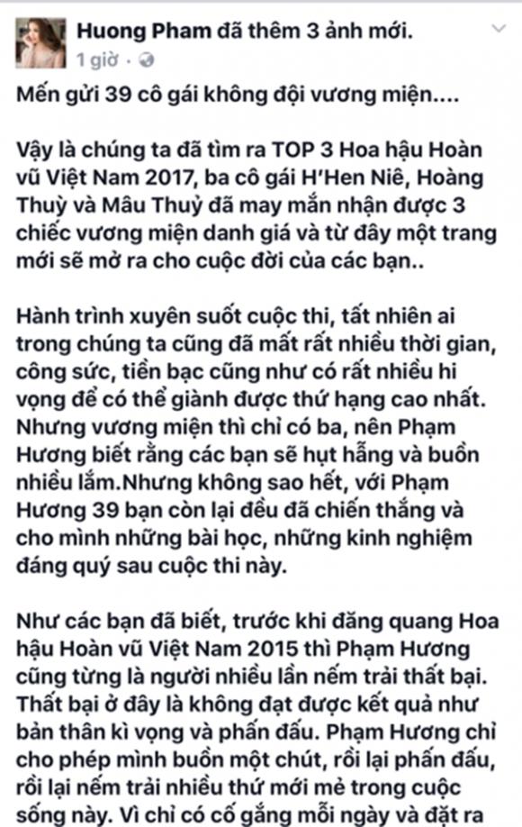 Hoa hậu Hoàn vũ Việt Nam 2017,tân Hoa hậu Hoàn vũ H'Hen Niê,Hoa hậu Phạm Hương