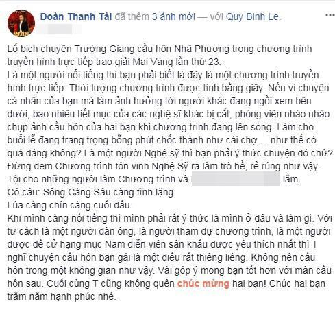 Trường Giang, Nhã Phương, Trường Giang cầu hôn Nhã Phương, sao Việt, Đoàn Thanh Tài, Cát Phượng, Anh Thư