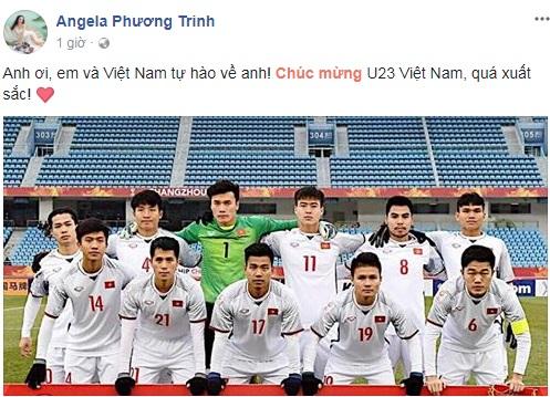 Sao Việt, sao Việt chúc mừng U23 Việt Nam, U23 Việt Nam