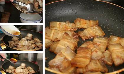 thịt lợn, rán thịt lợn, bí quyết rán thịt