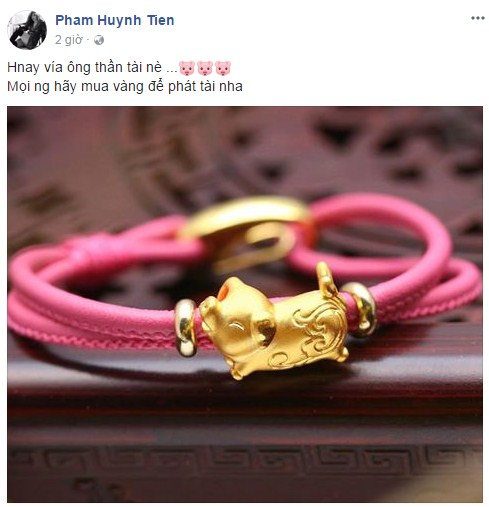 ngày vía Thần Tài, sao Việt mua vàng, Thanh Hằng, Xuân Hinh, Phan Như Thảo, Thu Phượng, Thanh Duy idol