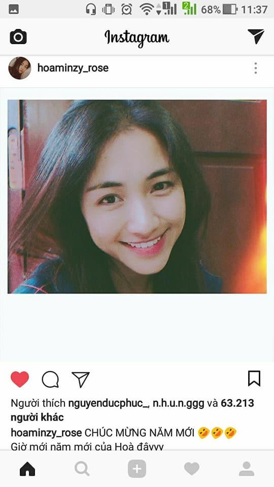 Lấy lại được instagram, Hòa Minzy đanh đá đáp trả nick giả mạo