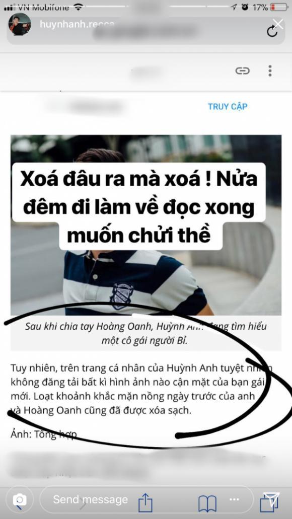 Huỳnh Anh, Hoàng Oanh, sao Việt
