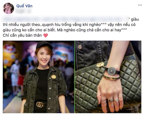 sao Việt,Quế Vân,Quế Vân khoe của
