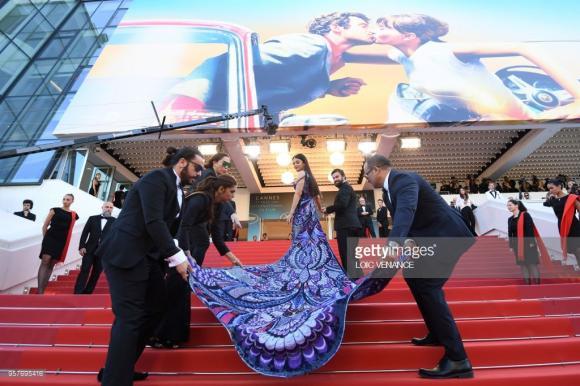 thảm đỏ LHP Cannes,Hoa hậu Aishwarya Rai,Hoa hậu đẹp nhất thế giới, lhp cannes ngày 5