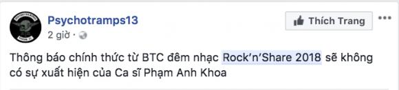 Phạm Anh Khoa, Rock'n'Share, sao Việt, gạ tình